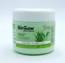 2 x Bio Glow Aloe Vera Vitamin E Moisturising Cream 300ml Each Body Nourishing