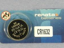RENATA  Watch Battery  CR1632 Lithium 3V  Swiss Made  1Pc