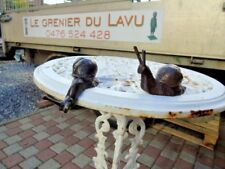 ESCARGOT BRONZE , statue animalière d escargot ( 2 ) en bronze,   ...