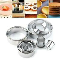 14X Cookie Cutter Mold Round Mini Mould Biscuit Fondant Cake DIY Decor Tools