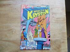 1979 SUPERMAN WORLD OF KRYPTON 1 SIGNED 2X HOWARD CHAYKIN & PAUL KUPPERBERG, POA