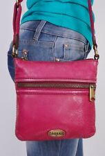 FOSSIL Small Pink  Leather Croossbody Shoulder Hobo Tote Satchel Purse Bag