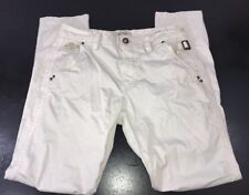Mos Mosh Off White Size 27 Mid Rise Deco Flap Pocket Skinny Pants actual 30x30