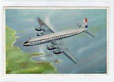 DOUGLAS DC-7C: Official KLM airline aviation postcard (C24608)