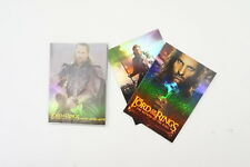 Lord of the Rings The Return of the King set of 10 foil cards & 2 box cards 2003