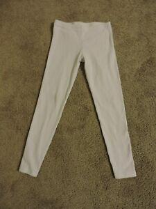 Tea Collection Girl Pointelle Legging Chalk Cotton Elastane Size 8