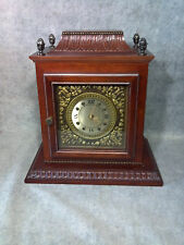 Classical WOOD Carved Mantle Table Desk Cabinet CLOCK Jewelry Box Hidden Door