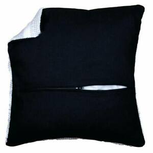 """Black Cushion finishing Kit With Zipper Use with Vervaco kits 16x16"""" 100% cotton"""