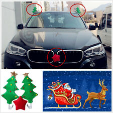 One Set Autos Off-Road Exterior Cute Christmas Tree With Red Star Decoration Kit