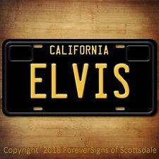 "Elvis ""The King"" Rock And Roll California Aluminum Vanity License Plate Black"