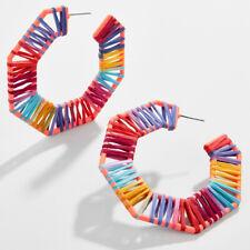 Gianella Reinette Raffia Hoop Earrings Rainbow Color Chic Hue Modern Flair Jewel
