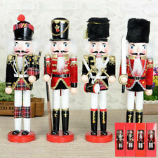 Schiaccianoci Soldato di Natale in Legno 30 cm Decorazioni Natalizie Casa SB5858