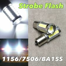 Strobe Flash Rear Signal light 1156 BA15S 7506 P21W SMD LED White 6000K W1 GM JA
