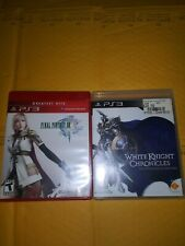 Ps3 Game Bundle - White Knight Chronicles & Final Fantasy Xiii ( Near Mint )