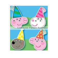 Peppa Pig Party Supplies  Masks 8 Pack Decorations Games George Danny Suzy