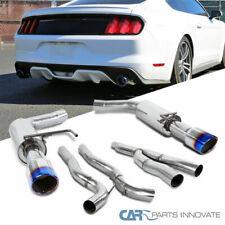Para el 15-18 Ford Mustang 2.3L EcoBoost S/S Catback Exhaust SILENCIADOR Quemado Punta
