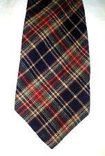 "Vtg Bert Pulitzer Wool Viyella Plaid Skinny Men's Neck Tie 3 1/8"" x 60"""
