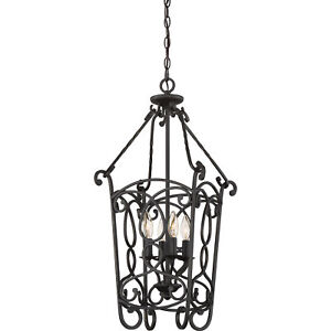 "Quoizel Estate 29.5"" Traditional Cage Chandelier Imperial Bronze EST5204IB"