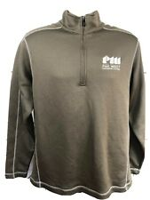 Nike Golf Mens Large Brown Thermafit 1/2 Zip Pullover Sweater L