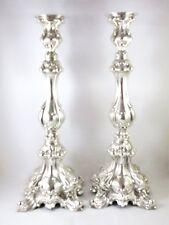 Sterling Silver 925 Shabbat Candlesticks Jewish High 32cm Weight 490gr' Judaica