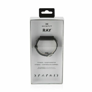 Misfit Ray Fitness and Sleep Tracker with Black Leather Band Carbon Black - NEW