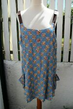 Ladies Size 18 Joe Browns Summer Long Top/ Dress Floral Leather Effect Straps