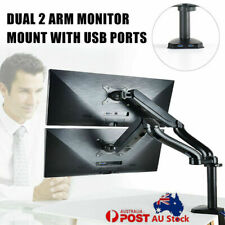 Dual / Single Arm HD LCD Desktop Mount LED Screen Monitor Stand with USB Ports