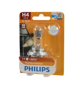Genuine PHILIPS Premium Vision Headlight H4 Globe 12V 60/55W - Single Bulb