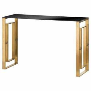 The Edwin Stainless Console Table In Brushed Brass Stunning Console Table