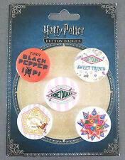 Harry Potter Buttons 5er Set Anstecker Badges Pins Honeydukes Sweet Shop Primark