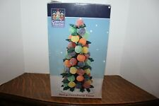 """Carole Towne Lemax Holly Gumdrop Tree New in Box Great with Villages 7""""T"""