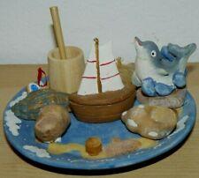 "Life in the sea ceramic decorative display 3"" x 5"""