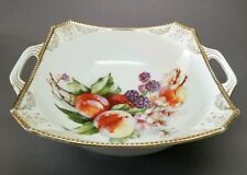 Antique Carl Tielsch CT Altwasser Silesia Germany Porcelain Serving Bowl Fruit