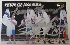 Mario Sperry Nobuyuki Sakakibara Signed 2006 Pride FC Grand Prix Promo Card PR-7