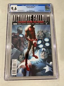 ULTIMATE FALLOUT # 4 CGC 9.6 1st Print MILES MORALES Spider-Man