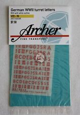 Archer 1/72-1/76 German WWII Turret Letters Outlined (Red / White) AR72059R