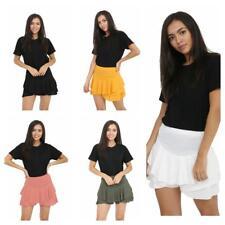 Ladies Girls Neon RARA Mini Skirt 80s Dance Club Fancy Women Frill Short S - XL