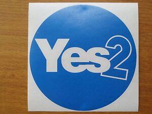 Vote Yes Blue Circle Scottish Independence Vinyl Sticker indyref2 Scotland