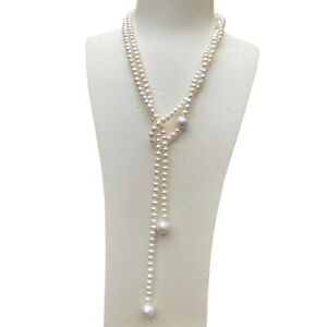 Gorgeous Natural Freshwater 5~6x6~6.5mm N 11~11.5mm AAA pearl necklace DL315