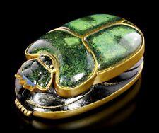 Skarabäus Figur grün-gold - Ägypten Käfer Glücksbringer Gottheit Deko