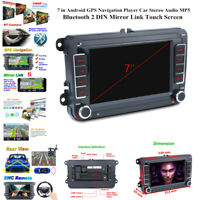 "7""2DIN Android GPS MP5 Player Car Stereo FM Bluetooth Fit For GOLF PASSAT Jetta"