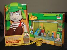 El Chavo Parlanchin Chatty Talking Plush & Lego Set La Vecindad Lot New in Box