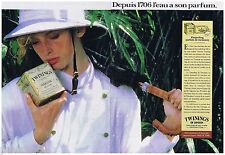 PUBLICITE ADVERTISING 105  1988  TWININGS thé DJAREELING GRAND CRI (2p)
