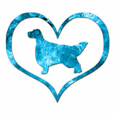 Love English Setter Dog Heart - Decal - Multiple Patterns & Sizes - ebn1454