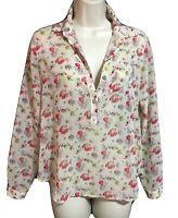 LOFT ANN TAYLOR Women UK 8 Designer Chiffon Top Blouse Shirt