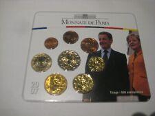 Frankrijk  BU set 2007 Monnaie de Paris (sarkozy merkel)  (136)