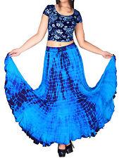 eaonplus TURQ / PURPLE Scalloped Renaissance Tie Dye Maxi Skirt 14/16 - 34/36