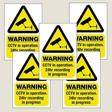 5 x CCTV in operation window stickers/signs decal 100mmx150mm Free 1st Class P&P