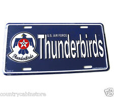 THUNDERBIRDS USAF AIR FORCE EMBLEM LOGO LICENSE PLATE AUTO STANDARD SIZE