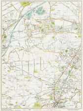 area map Lancashire 1934 Sheet 22 Bolton west
